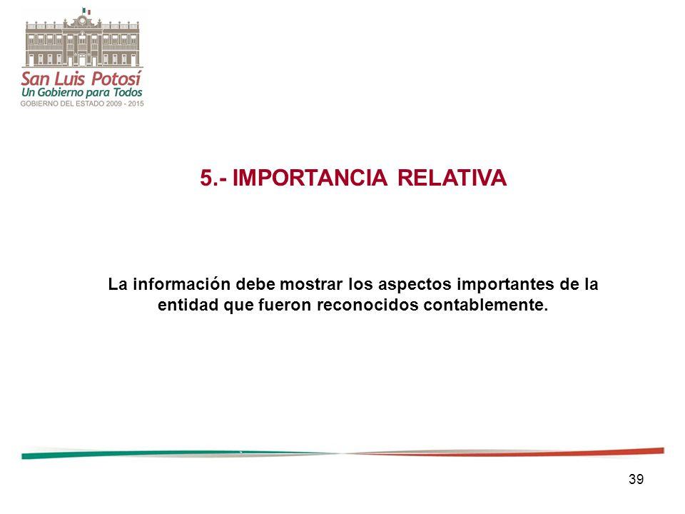 5.- IMPORTANCIA RELATIVA