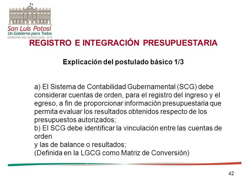 REGISTRO E INTEGRACIÓN PRESUPUESTARIA