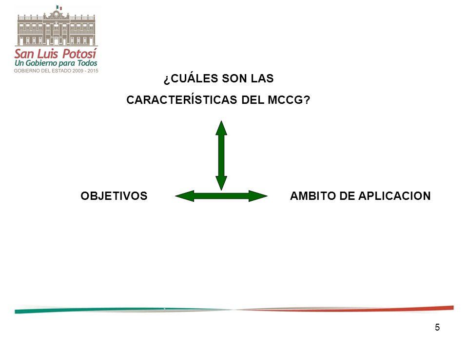 CARACTERÍSTICAS DEL MCCG
