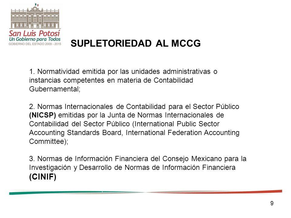 SUPLETORIEDAD AL MCCG (CINIF)
