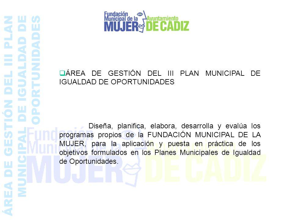 ÁREA DE GESTIÓN DEL III PLAN MUNICIPAL DE IGUALDAD DE OPORTUNIDADES