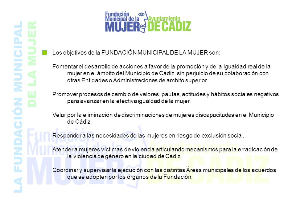 LA FUNDACIÓN MUNICIPAL DE LA MUJER
