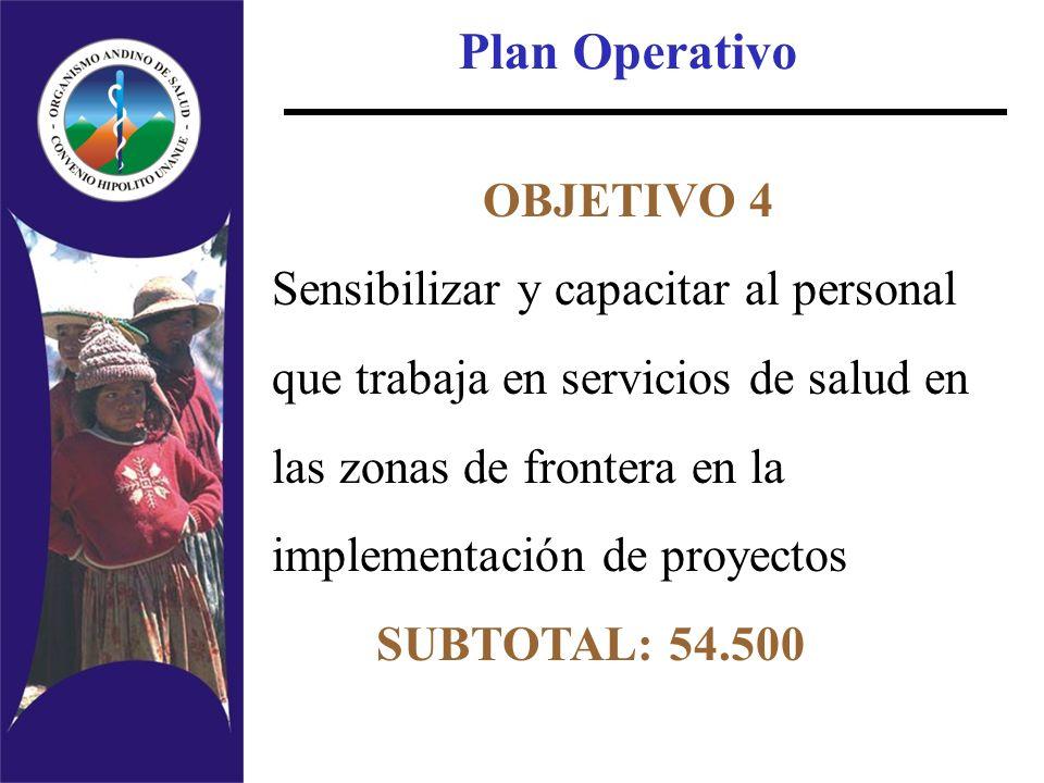 Plan Operativo OBJETIVO 4 Sensibilizar y capacitar al personal