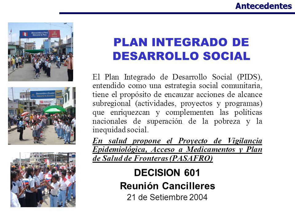 PLAN INTEGRADO DE DESARROLLO SOCIAL