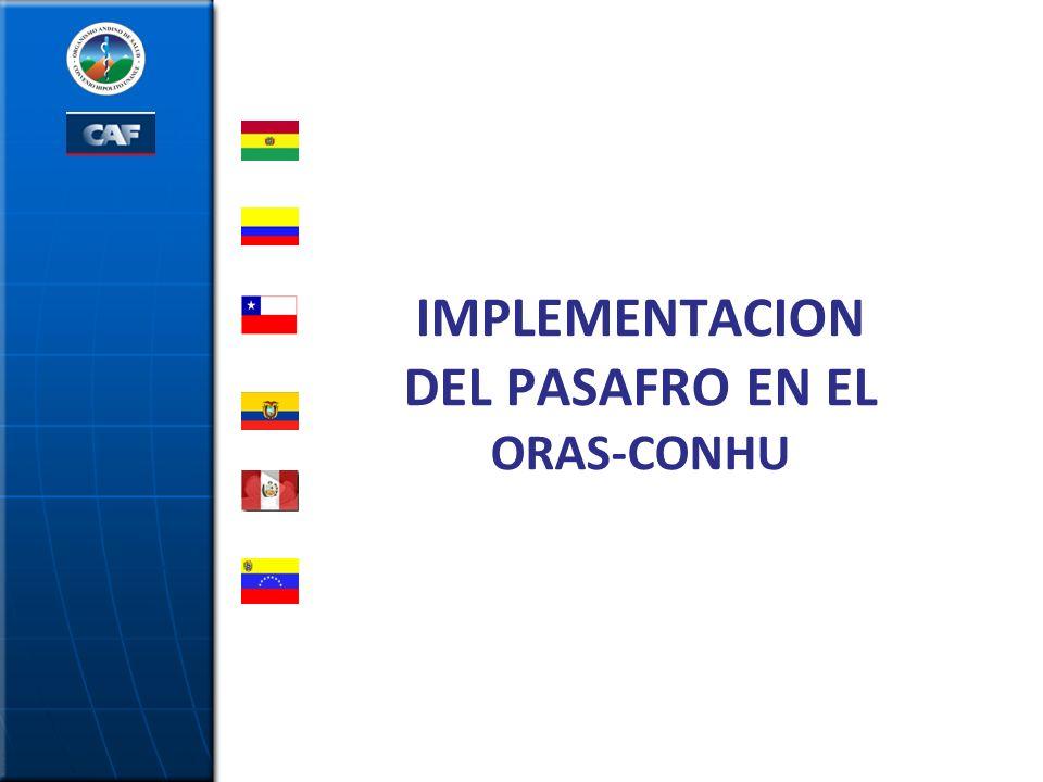 IMPLEMENTACION DEL PASAFRO EN EL ORAS-CONHU