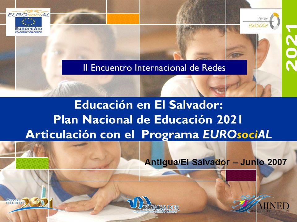 2021 Educación en El Salvador: Plan Nacional de Educación 2021