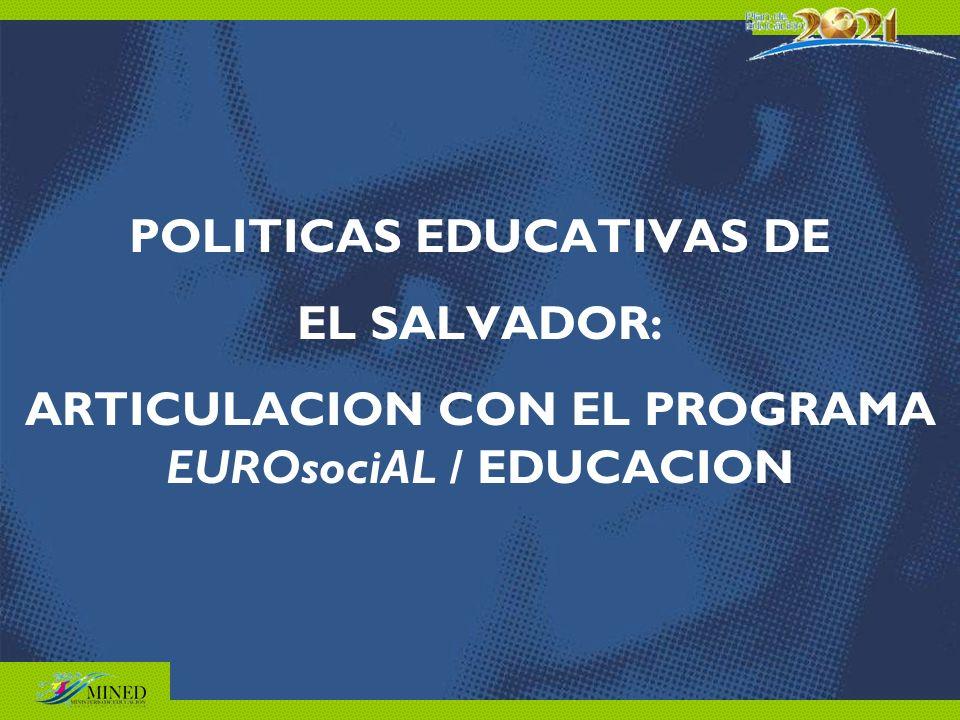 POLITICAS EDUCATIVAS DE EL SALVADOR: