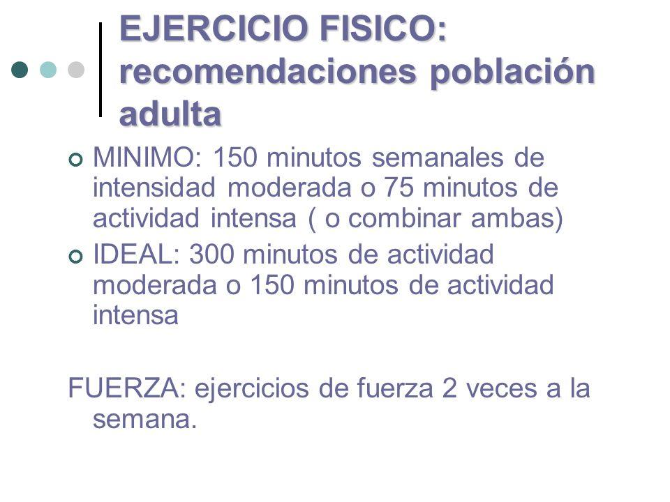 EJERCICIO FISICO: recomendaciones población adulta