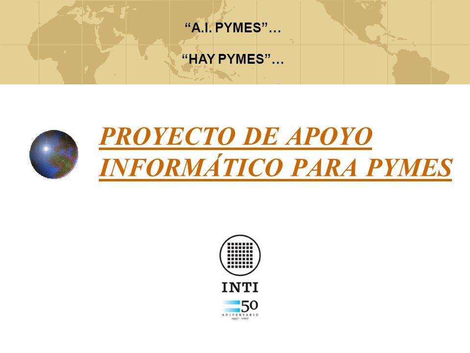 PROYECTO DE APOYO INFORMÁTICO PARA PYMES