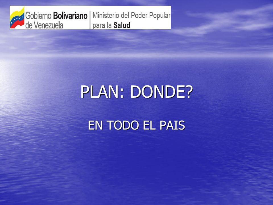 PLAN: DONDE EN TODO EL PAIS