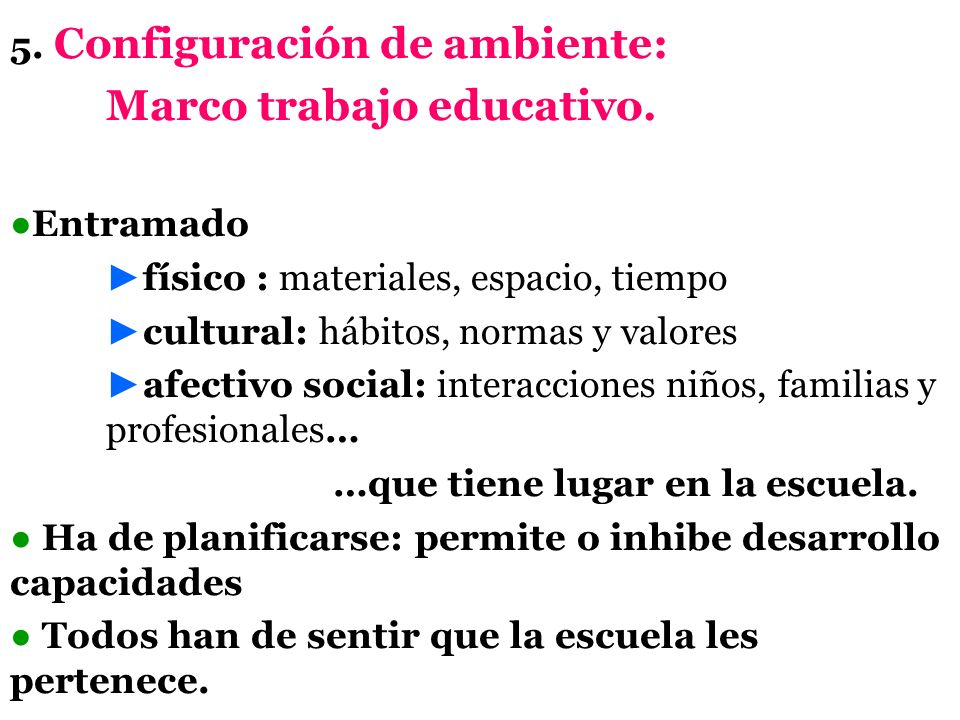 Marco trabajo educativo.