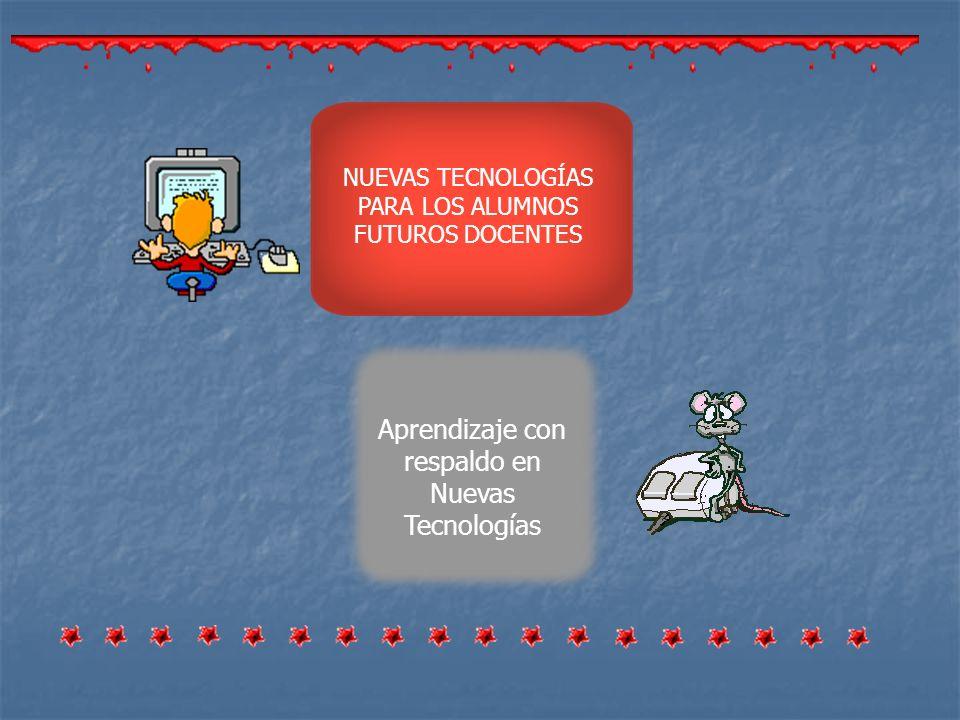 Aprendizaje con respaldo en Nuevas Tecnologías