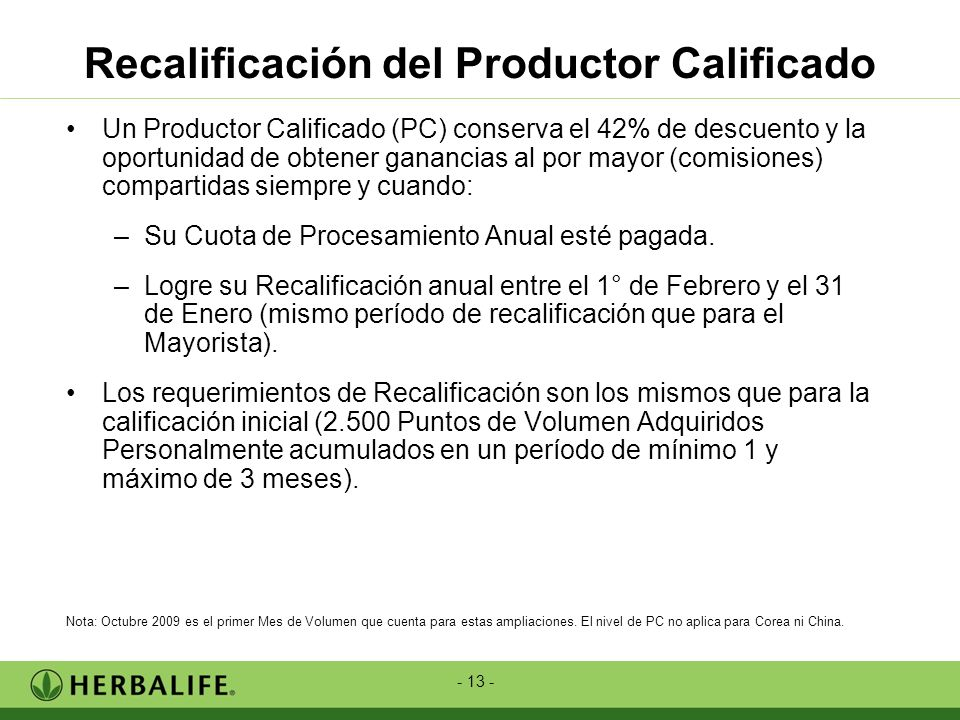 Recalificación del Productor Calificado