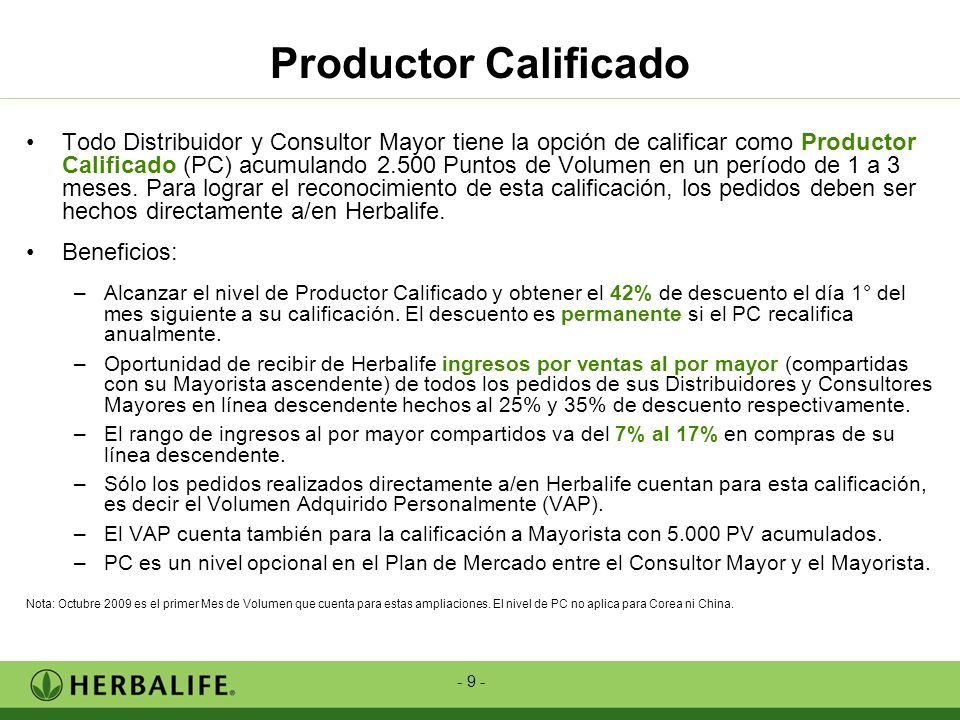 Productor Calificado
