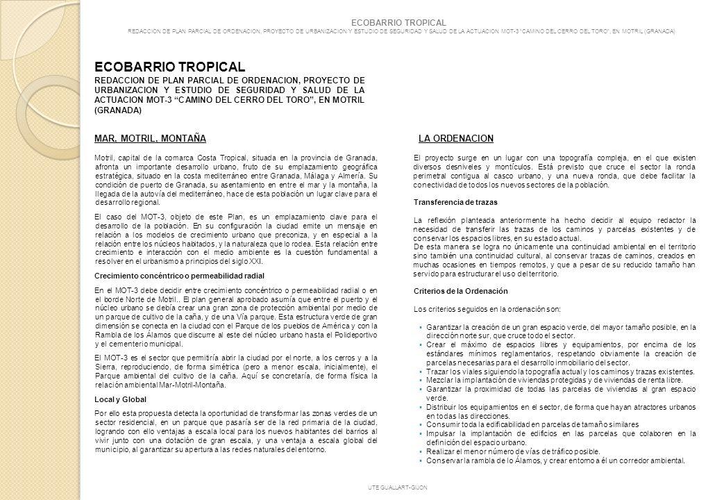 ECOBARRIO TROPICAL MAR, MOTRIL, MONTAÑA LA ORDENACION