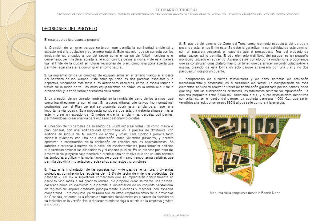 Maqueta de la propuesta desde la Ronda Norte