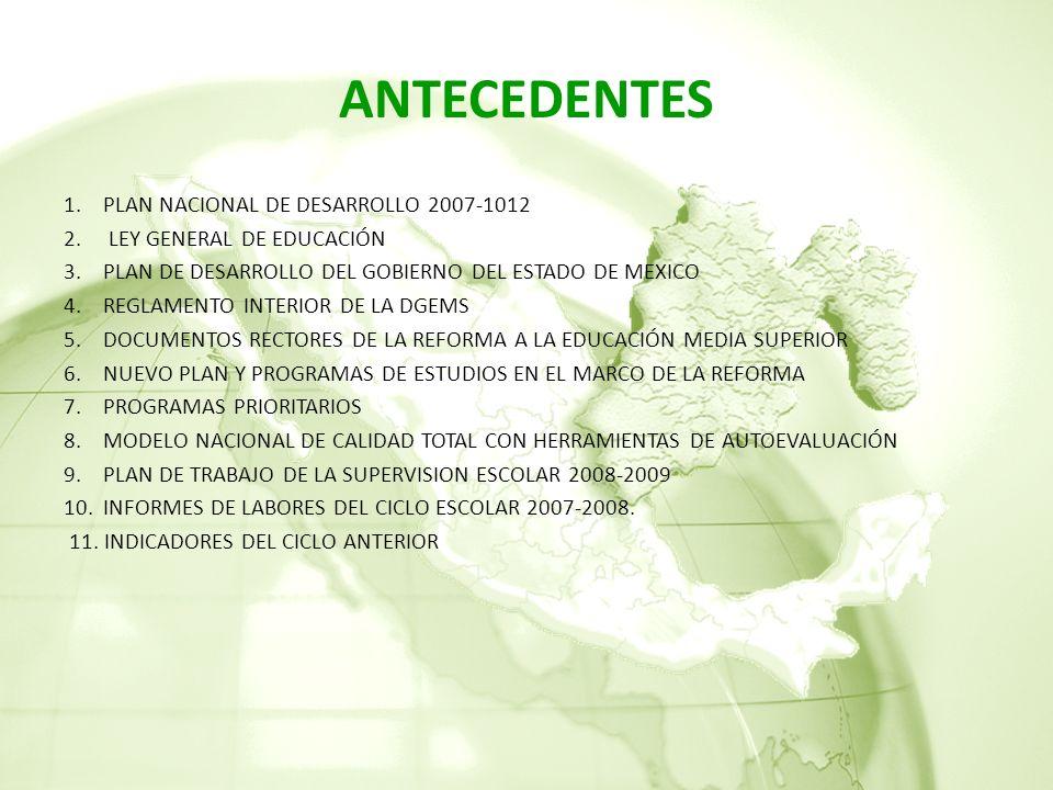 ANTECEDENTES PLAN NACIONAL DE DESARROLLO 2007-1012