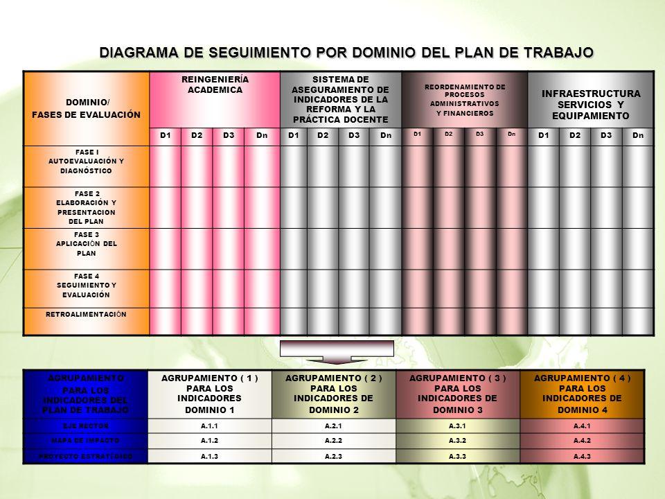 DIAGRAMA DE SEGUIMIENTO POR DOMINIO DEL PLAN DE TRABAJO