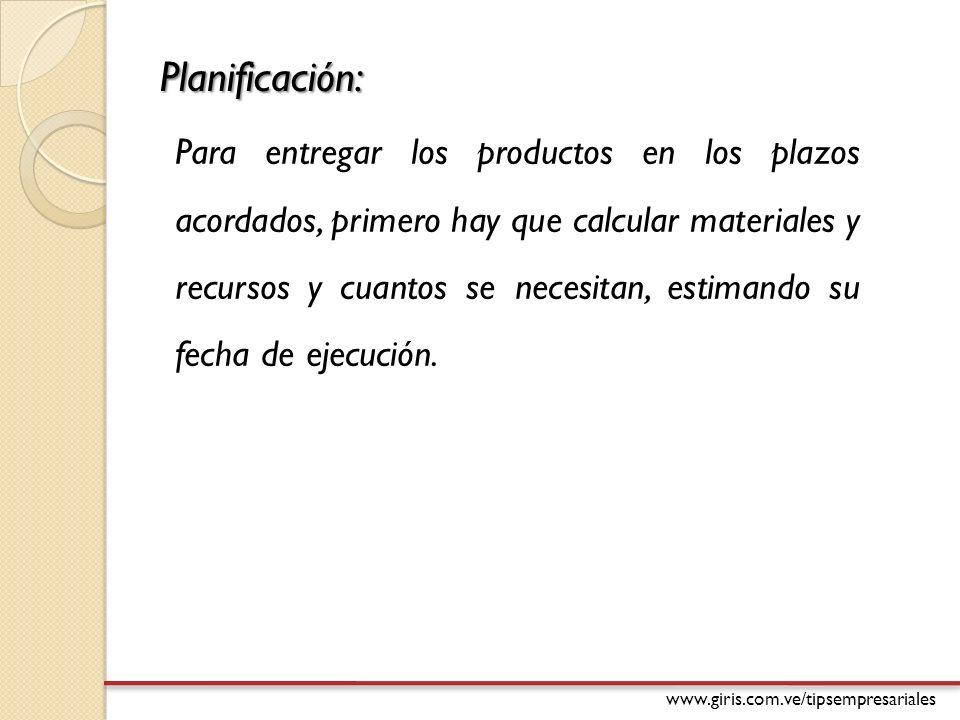 Planificación: