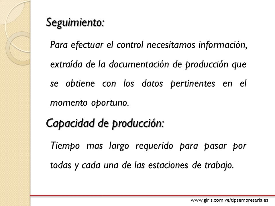 Capacidad de producción: