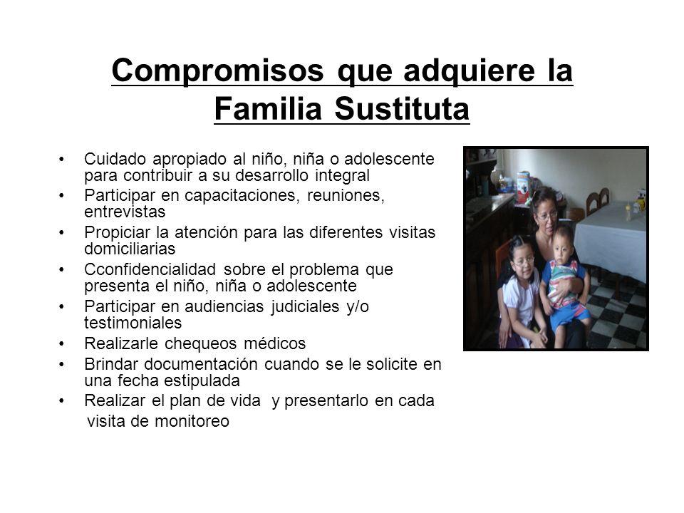 Compromisos que adquiere la Familia Sustituta