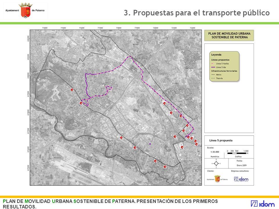 3. Propuestas para el transporte público