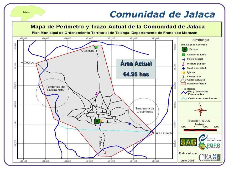 Comunidad de Jalaca Área Actual 64.95 has www.themegallery.com