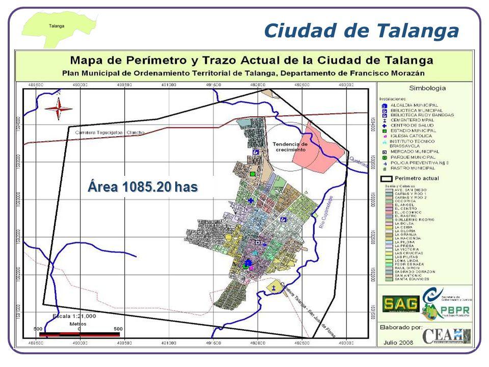 Ciudad de Talanga Área 1085.20 has www.themegallery.com Company Logo