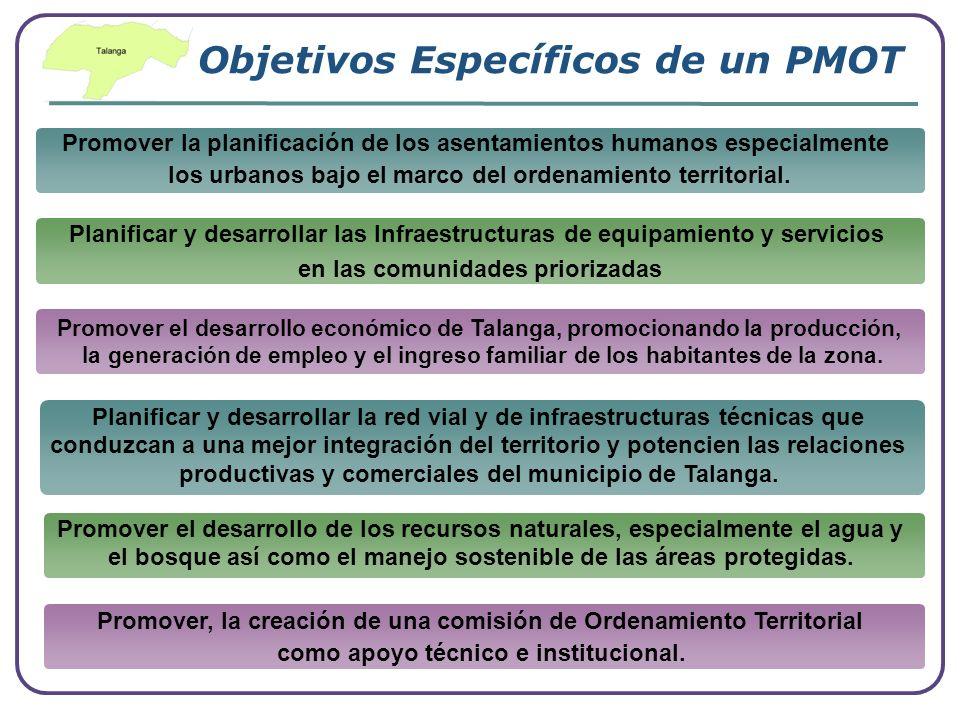 Objetivos Específicos de un PMOT