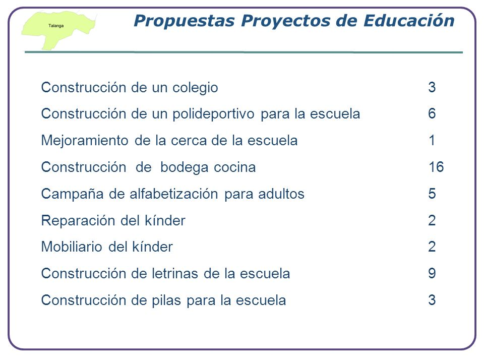 Propuestas Proyectos de Educación