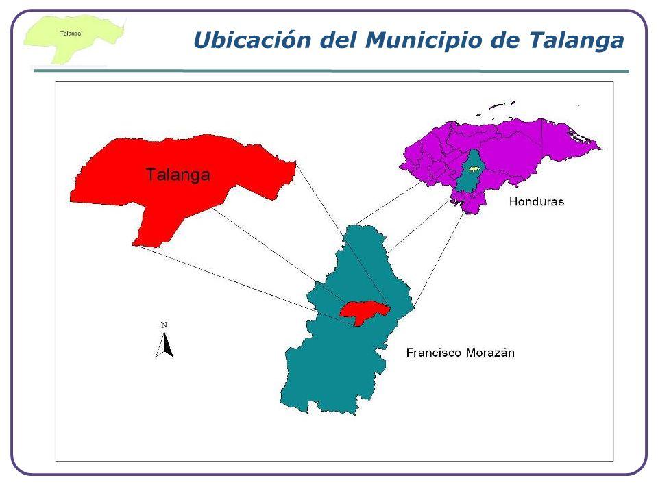 Ubicación del Municipio de Talanga