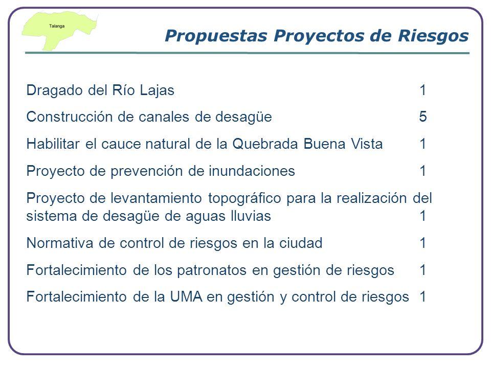Propuestas Proyectos de Riesgos