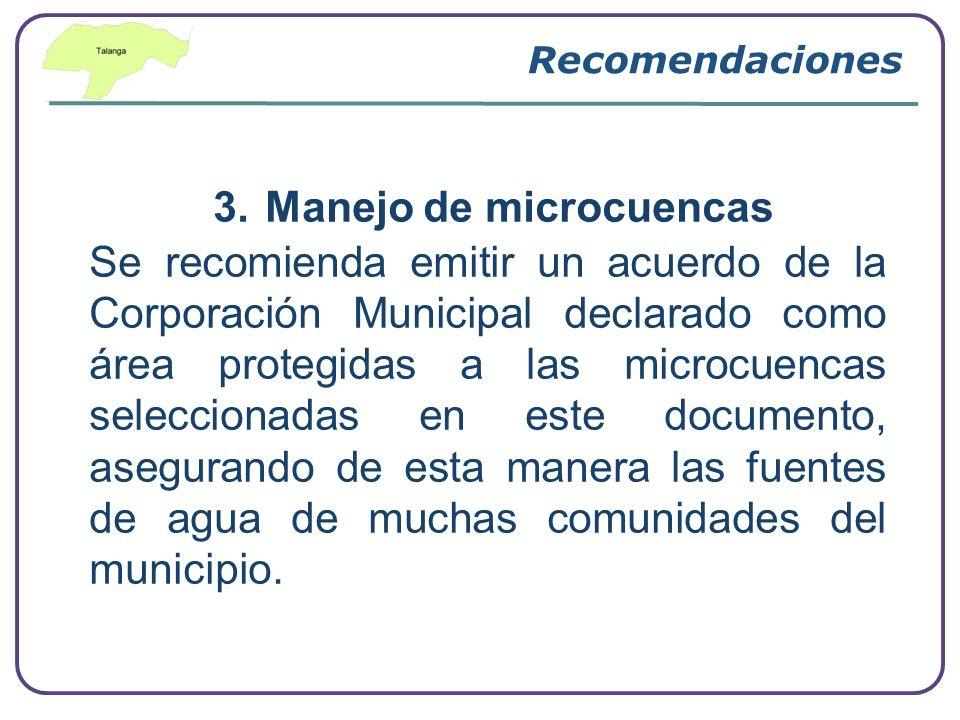 3. Manejo de microcuencas