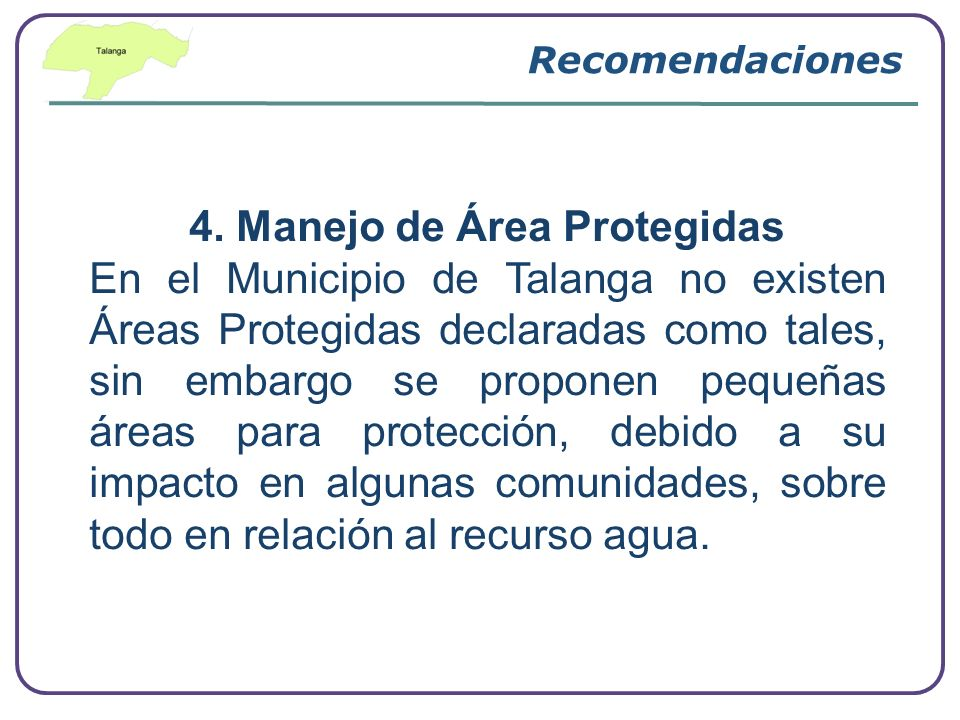 4. Manejo de Área Protegidas