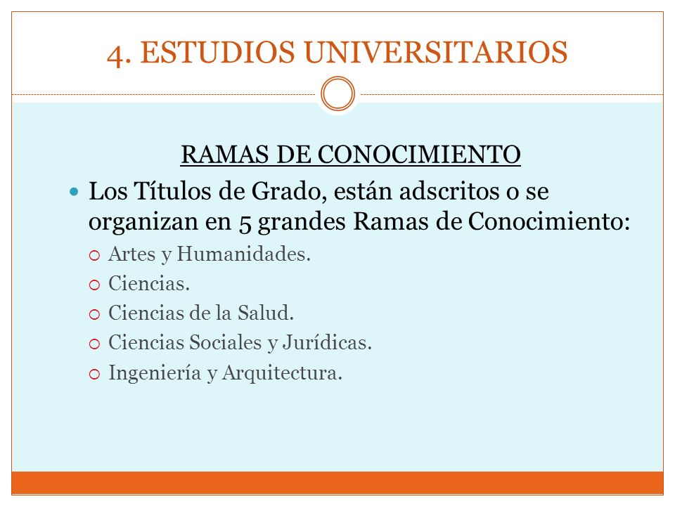 4. ESTUDIOS UNIVERSITARIOS