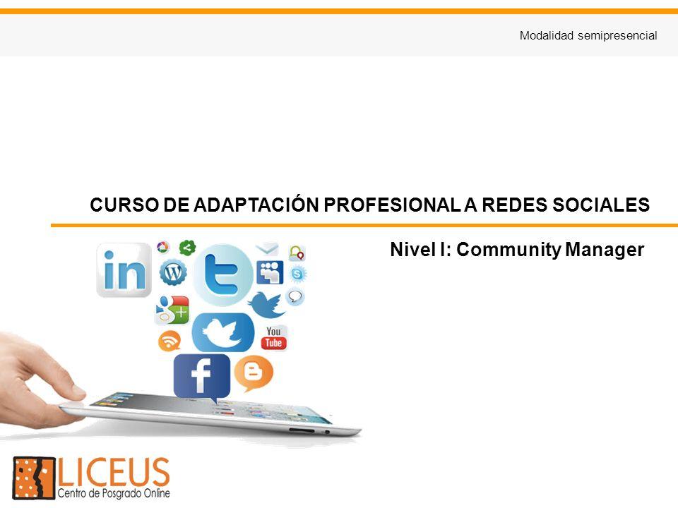 CURSO DE ADAPTACIÓN PROFESIONAL A REDES SOCIALES