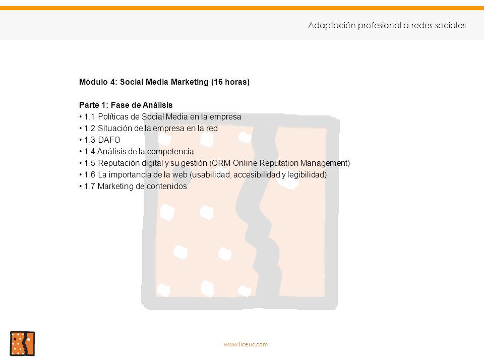 Adaptación profesional a redes sociales