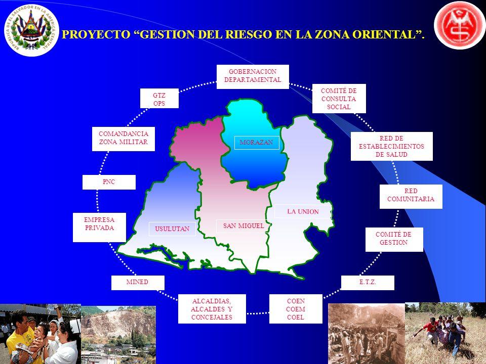 PROYECTO GESTION DEL RIESGO EN LA ZONA ORIENTAL .
