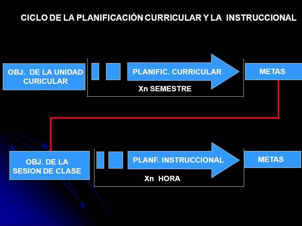 CICLO DE LA PLANIFICACIÓN CURRICULAR Y LA INSTRUCCIONAL