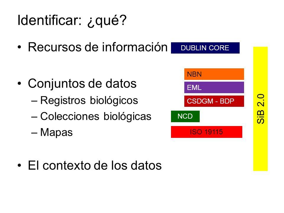 Identificar: ¿qué Recursos de información Conjuntos de datos