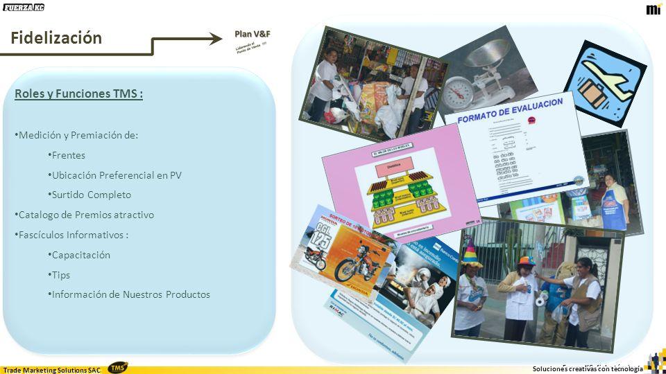 Fidelización Roles y Funciones TMS : Medición y Premiación de: Frentes