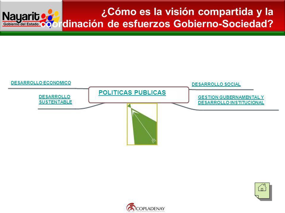 ¿Cómo es la visión compartida y la coordinación de esfuerzos Gobierno-Sociedad