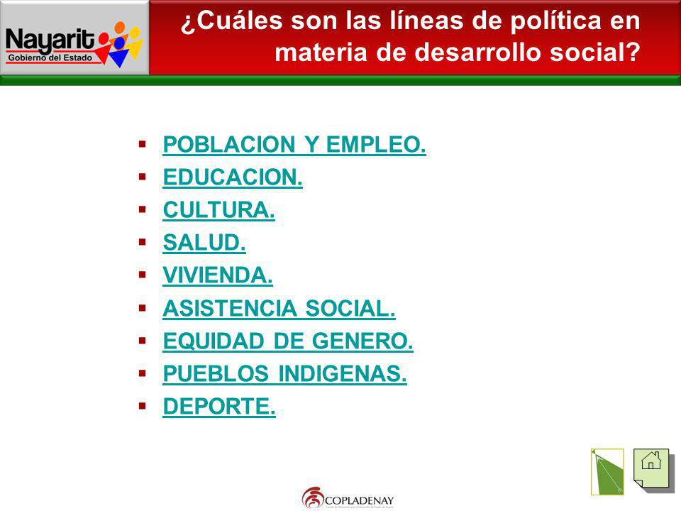 ¿Cuáles son las líneas de política en materia de desarrollo social
