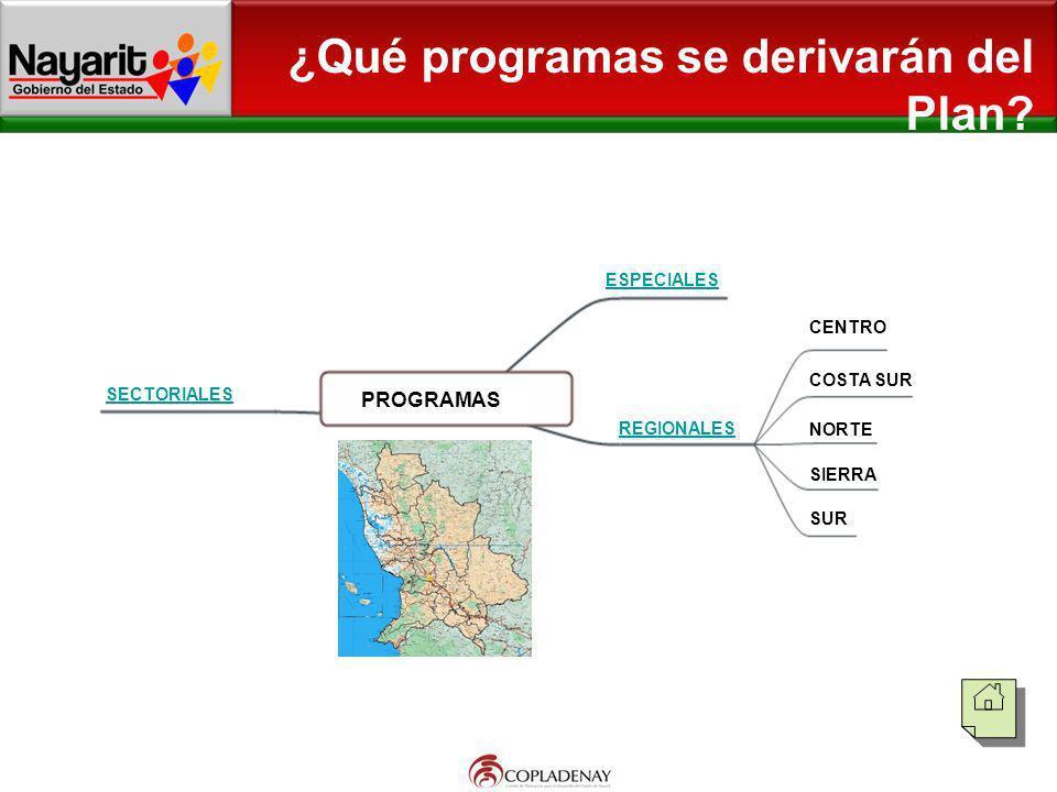 ¿Qué programas se derivarán del Plan