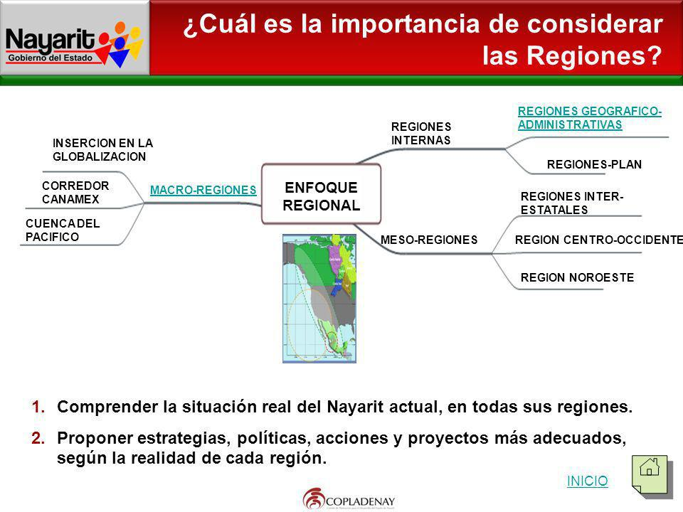 ¿Cuál es la importancia de considerar las Regiones
