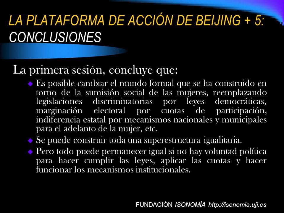 LA PLATAFORMA DE ACCIÓN DE BEIJING + 5: CONCLUSIONES