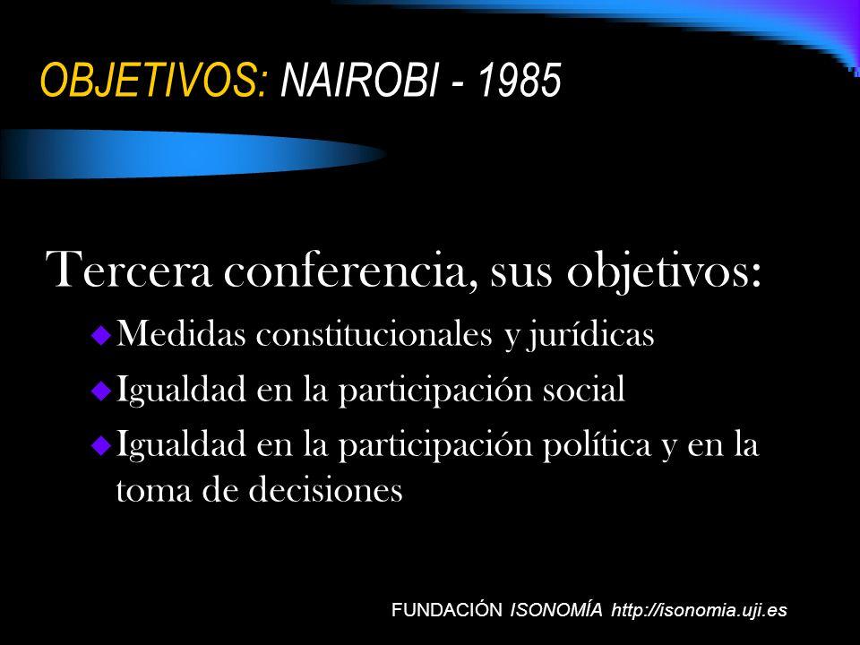 Tercera conferencia, sus objetivos: