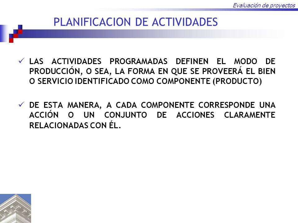 PLANIFICACION DE ACTIVIDADES
