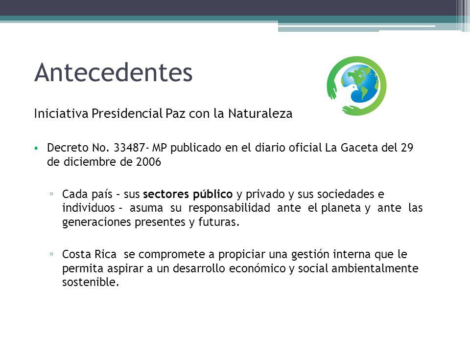 Antecedentes Iniciativa Presidencial Paz con la Naturaleza