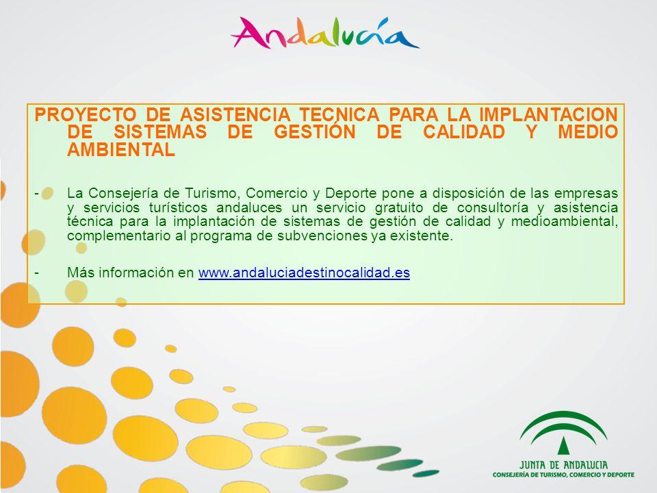 PROYECTO DE ASISTENCIA TECNICA PARA LA IMPLANTACION DE SISTEMAS DE GESTIÓN DE CALIDAD Y MEDIO AMBIENTAL